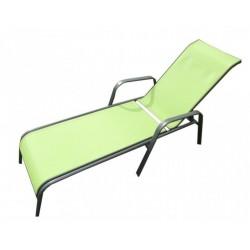Záhradné ležadlo kovové ZWC-52 sv. zelené