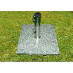 Stojan na slnečníky (štvorcový) - žula / nerezová oceľ, 25 kg