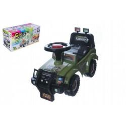 Odrážedlo auto Cross country vojenská khaki zelená 53x48x26cm v krabici od 12 do 35 měsíců