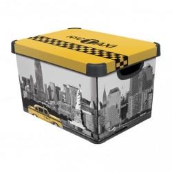 Úložný box s víkem - NEW YORK - L CURVER