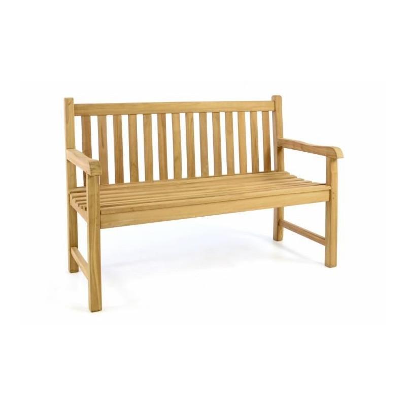 2a8eed0ae4 Záhradná lavica DIVERO - ošetrené teakové drevo - 130 cm