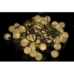 Záhradné párty osvetlenie – vonkajšie 50 LED teplá biela