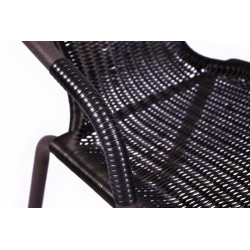 Bistro stolík so sklenenou doskou a 2 stoličkami z polyratanu Garth