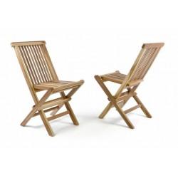 Záhradná sada 2 detských drevených stoličiek DIVERO