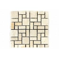 Mramorová mozaika Garth- krémová obklad 1 ks