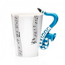 Hudební hrnek - saxofon