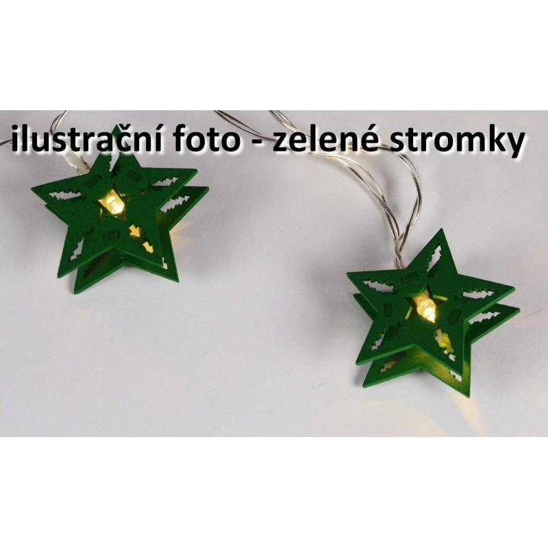 Vianočná dekoratívna reťaz HOLZ - zelené stromčeky - 10 LED f39560a2906