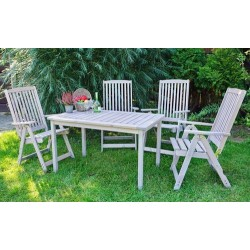 Záhradný stôl drevený HOLIDAY – sivý