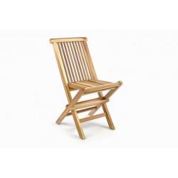 Skladacia detská stolička z teakového dreva DIVERO