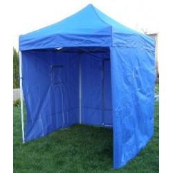 Záhradný párty stan CLASSIC nožnicový + bočné steny - 2 x 2 m modrý