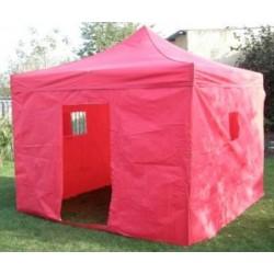 Záhradný párty stan CLASSIC nožnicový + bočné steny II. - 3 x 3 m červený