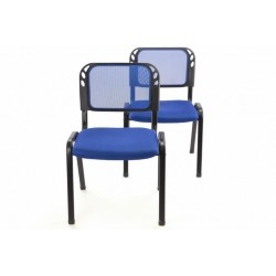 Sada stohovateľné kongresové stoličky 2 kusy - modrá