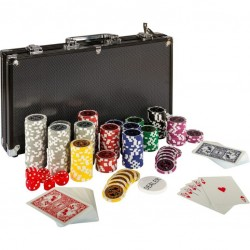 Pokerový set 300 ks žetónov BLACK EDITION 1 - 1 000