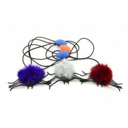 Pavouk skákající plyš/plast 7cm asst