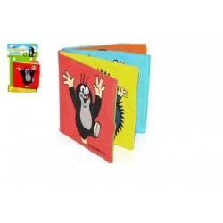 Knížka Krtek textilní rozkládací 10x10cm na kartě 0+