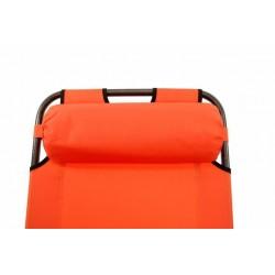 Skladacie záhradné ležadlo - oranžové