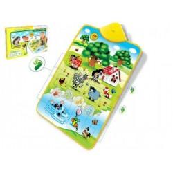 Elektronická hrací podložka Krtek a zvířátka 42x61cm v krabici