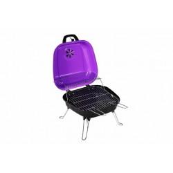Kufríkový gril na drevené uhlie Gart, fialový