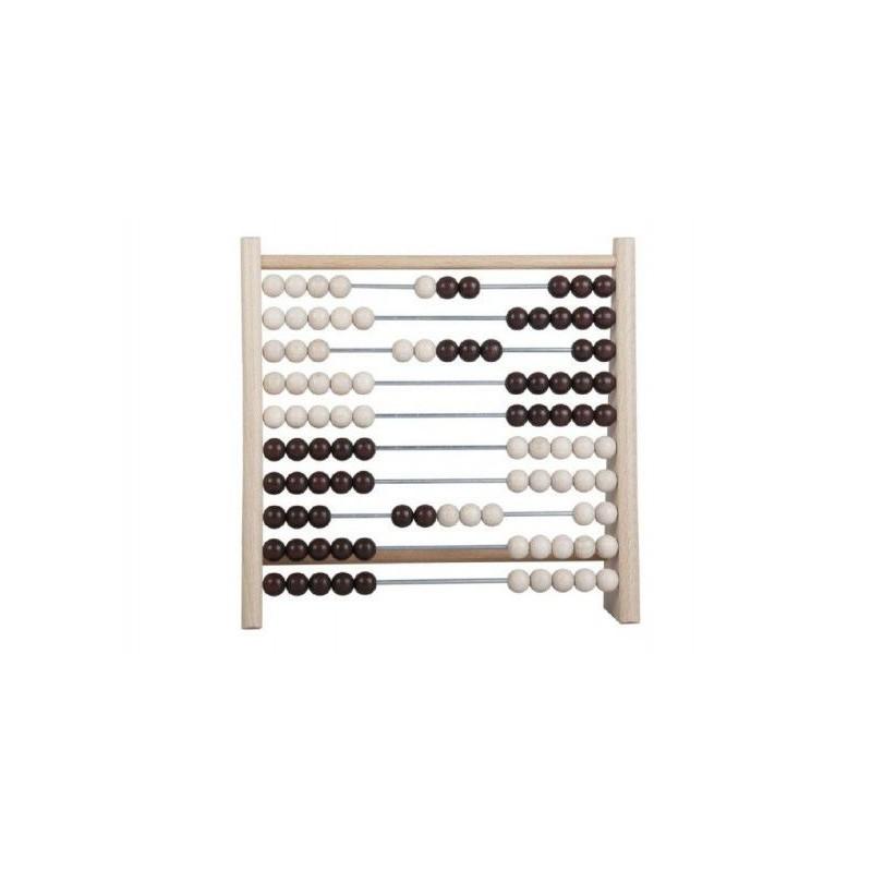 Počítadlo 100 kuliček dřevo/kov 24x23cm v sáčku