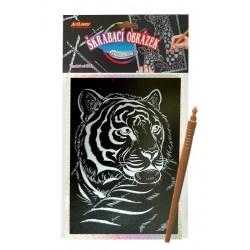 Škrabací obrázek hologram 14x25cm asst 8 druhů