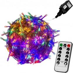 Vianočné LED osvetlenie 40 m - farebná 400 LED + ovládač