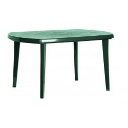 Záhradný plastový stôl ELISE zelený