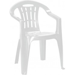 Záhradná stolička MALLORCA – biela