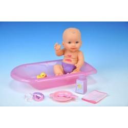 Miminko/panenka špinavé pevné tělo s doplňky plast 30cm v krabici