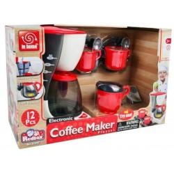 Kávovar s doplňky 12ks plast 22cm na baterie v krabici