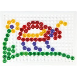 Mozaika klobouček 1,5cm krystal 120ks v krabici