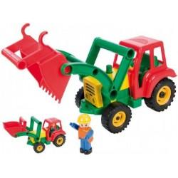 Auto traktor/nakladač aktivní se lžící plast 35cm 24m+