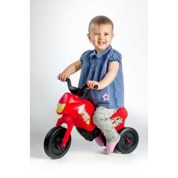 Odrážedlo Enduro Yupee červené malé plast výška sedadla 26cm nosnost do 25kg od 12 měsíců