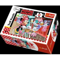 Minipuzzle Minnie & Daisy  54dílků - 4 druhy