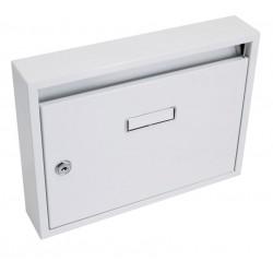 Schránka poštovní paneláková 325x240x60mm bílá bez děr