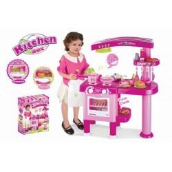 Detská kuchynka G21 veľká s príslušenstvom ružová