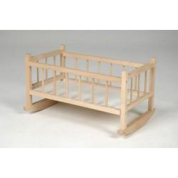 Kolébka pro panenky dřevo 49x28x27cm v sáčku