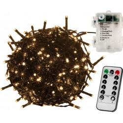 Vianočná reťaz 5m - teplá biela 50 LED na BATÉRIE