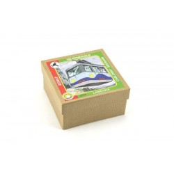 Lanovka modrá na klíček kov 10x7,5cm v krabičce Kovap