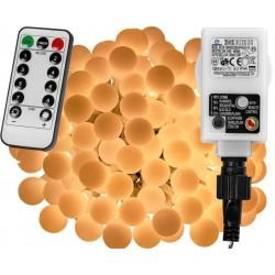 Párty LED osvetlenie 20 m - teplá biela 200 diód + ovládač