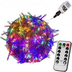 Vianočná reťaz 60m - farebná 600 LED + ovládač