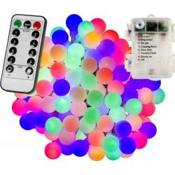 Párty LED osvetlenie 20m - farebné 200diód - BATÉRIE ovládač