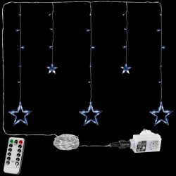 Vianočná reťaz - hviezdy - 61 LED studená biela