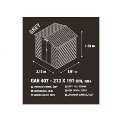 Záhradný domček G21 GAH 407 - 213 x 191 cm, sivý