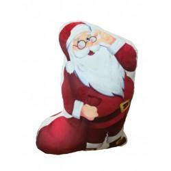 Vankúšik 3D Santa Claus mikroplyšový vzhľad