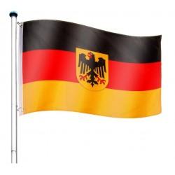 Vlajkový stožiar vrátane vlajky Nemecko - 650 cm