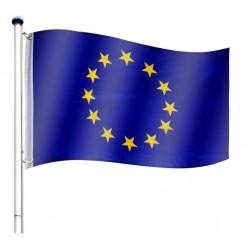 Vlajkový stožiar vrátane vlajky Európska únia - 650 cm