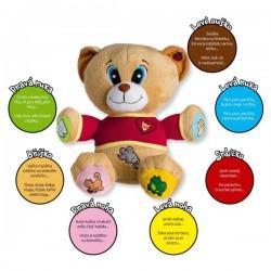 Medvěd Tedík česky mluvící plyš 30cm na baterie 25x30cm v krabici 12m+