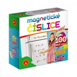Magnetické číslice na lednici 100 dílků v krabici 19x18x5cm
