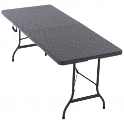 Skladací prenosný stôl 180 cm, antracit