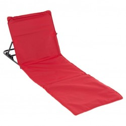 Nastaviteľná plážová podložka s opierkou - červená